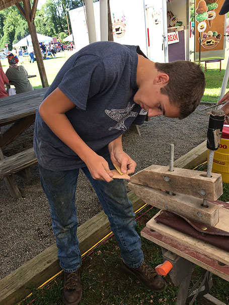 wood working franklin area folk festival